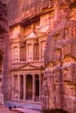 Petra kapita? Nabatean kr?lestwo S?awny archeologiczny miejsce w po?udniowym Jordania, obraz stock