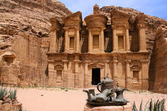 Petra-kloster, Jordanien Royaltyfri Foto