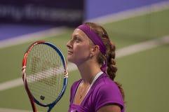 Petra kvitova. At the wta istanbul Stock Photos