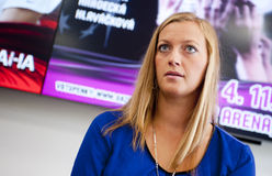 Petra Kvitova. Czech tennis player Petra Kvitova during press conference in Prague, September 20, 2012 stock photos