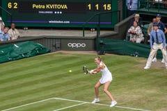 Petra Kvitova at Wimbledon stock photo