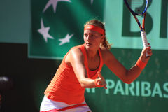 Petra Kvitova at Roland Garros 2011. Petra Kvitova at Roland Garros, defeating Greta Arn on May 23rd 2011 Stock Image