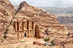 Petra, la ciudad perdida en Jordania meridional fotografía de archivo