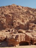 Petra landscapes, Jordan. Petra is a historical and archaeological city in southern Jordan. Petra is believed to have been settled as early as 9,000 BC, and it royalty free stock photo
