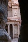 PETRA le temple grand Images libres de droits