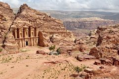 Petra, the Lost city in southern Jordan. Petra is a historical and archaeological city in southern Jordan. The city is famous for its rock-cut architecture and royalty free stock photography