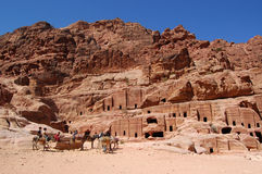 Petra, Lost rock city of Jordan Stock Photos