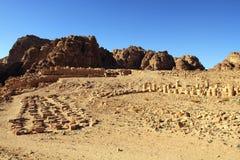 Petra, Lost rock city of Jordan Stock Photography