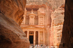Petra - Mening van Siq Royalty-vrije Stock Foto's