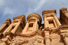 Petra monastery. Image of the Petra monastery in Jordan Royalty Free Stock Images