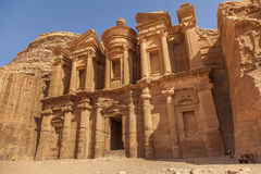 Petra Monastery Photos libres de droits