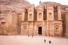Petra Monastery foto de archivo