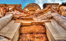 Petra Monastery. (Ad-Dair) from the bottom Royalty Free Stock Photos