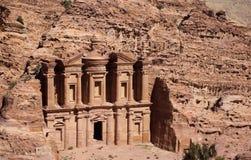 Petra Monastery em Jordânia em Ásia uma opinião do close up imagem de stock royalty free