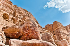 Petra mountains Royalty Free Stock Photo