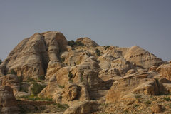 Petra mountains, Jordan. Mountains at the entrance to the canyon leading to Petra ancient town Royalty Free Stock Photo