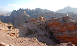 Petra mountains view point Royalty Free Stock Photography