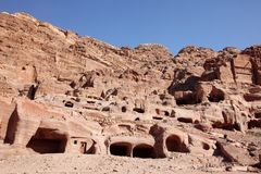 Petra Nabataeans capital city ( Al Khazneh ), Jordan Stock Photography