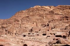Petra Nabataeans capital city ( Al Khazneh ), Jordan Royalty Free Stock Photography
