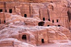 Petra Nabataeans capital city ( Al Khazneh ), Jordan Stock Image