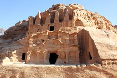 Petra Nabataeans capital city , Jordan Royalty Free Stock Photo