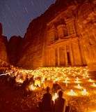 Petra by Night Stock Photos