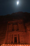 Petra at Night Royalty Free Stock Images