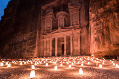Petra at night Stock Photo