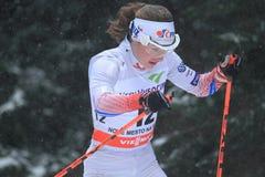 Petra Novakova - esqui do corta-mato Imagens de Stock Royalty Free