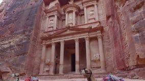 Petra - oude stad, Jordanië stock footage
