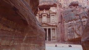 Petra - oude stad, Jordanië stock videobeelden
