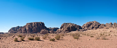 Petra panorama with temple in the distance Royalty Free Stock Photography