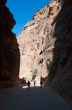 PETRA, parco archeologico, Giordania, Medio Oriente Immagine Stock Libera da Diritti