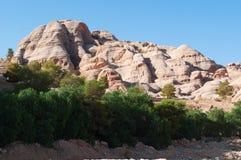 PETRA, parque arqueológico, Jordânia, Médio Oriente Fotografia de Stock Royalty Free