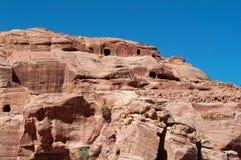 PETRA, parque arqueológico, Jordânia, Médio Oriente Imagens de Stock Royalty Free