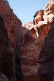 PETRA, parque arqueológico, Jordânia, Médio Oriente Imagem de Stock Royalty Free