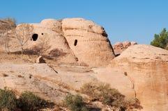 Petra, parque arqueológico, Jordania, Oriente Medio Foto de archivo libre de regalías