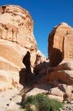 Petra, parque arqueológico, Jordania, Oriente Medio Imagenes de archivo