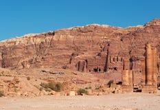 Petra, parque arqueológico, Jordania, Oriente Medio Foto de archivo
