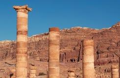 Petra, parque arqueológico, Jordania, Oriente Medio Fotos de archivo