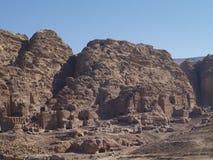 Petra; Raqmu - historyczne ruiny antyczny, rockowy miasto Nabatean Arabians, Ja lokalizuje w południowo-zachodni Jordania Ja jest obraz royalty free