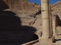 Petra; Raqmu - historyczne ruiny antyczny, rockowy miasto Nabatean Arabians, Ja lokalizuje w południowo-zachodni Jordania Ja jest obraz stock