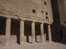 Petra; Raqmu - historyczne ruiny antyczny, rockowy miasto Nabatean Arabians, Ja lokalizuje w południowo-zachodni Jordania Ja jest zdjęcie royalty free