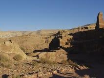 Petra; Raqmu - historyczne ruiny antyczny, rockowy miasto Nabatean Arabians, Ja lokalizuje w południowo-zachodni Jordania Ja jest fotografia stock