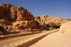 Petra road stock photo