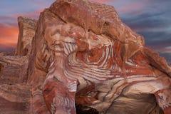Petra rocks Stock Image