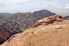 Petra rocky mountains, Jordan stock photos