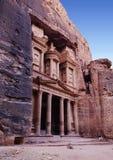 Petra, rotsstad in Jordanië Stock Foto's