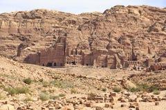 Petra. Royal tombs in Petra, Jordan Stock Photography
