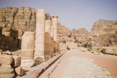 Petra ruins and mountains in Jordan Stock Photos